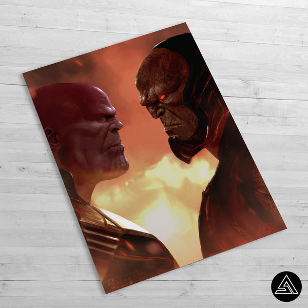 thanos vs darkseid fan art huge poster