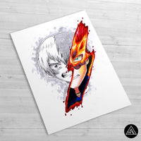 Todoroki Signature - Huge Poster