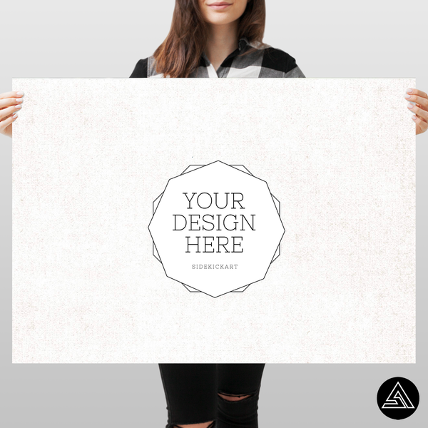 create a huge poster with your favorite design