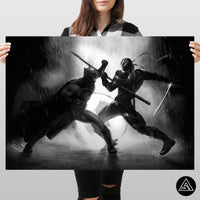 batman vs deathstroke wall art poster