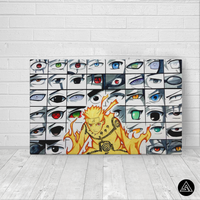 Naruto Eyes Collage - Canvas
