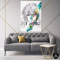 Violet Signature - Canvas