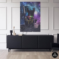 thanos fan art on canvas