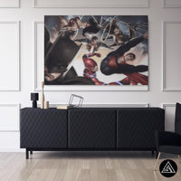 batman superman fan art canvas