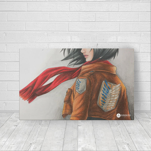 Mikasa Ackermann - Canvas - Sidekick ART