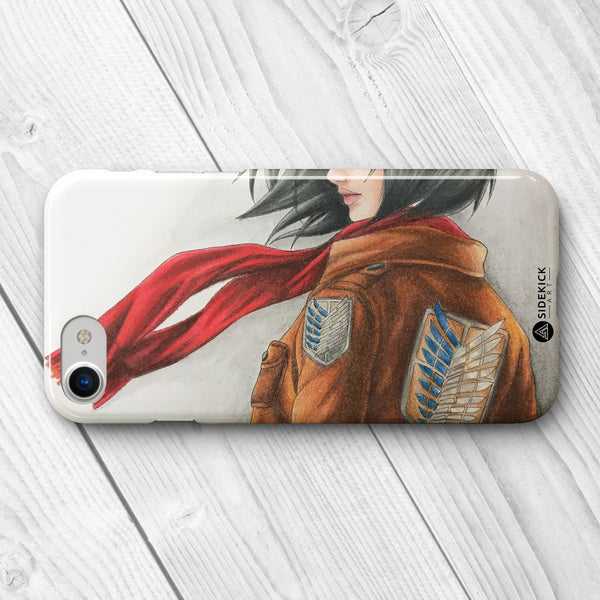 Mikasa Ackermann attack on titan hard phone case