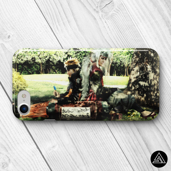 naruto and jiraiya phone case