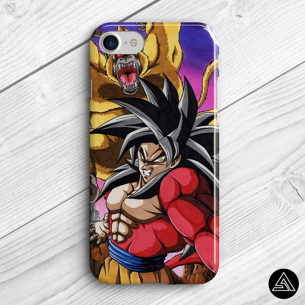 goku vs ooazaru iphone case