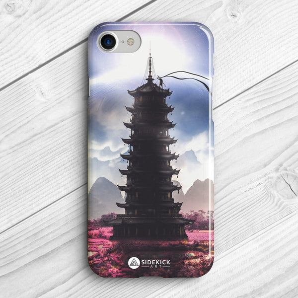 pagoda art phone case
