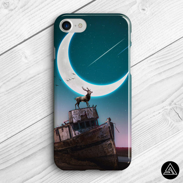 fantasy moon artwork phone case