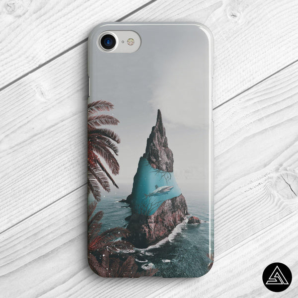 Sharks Island - Phone Case