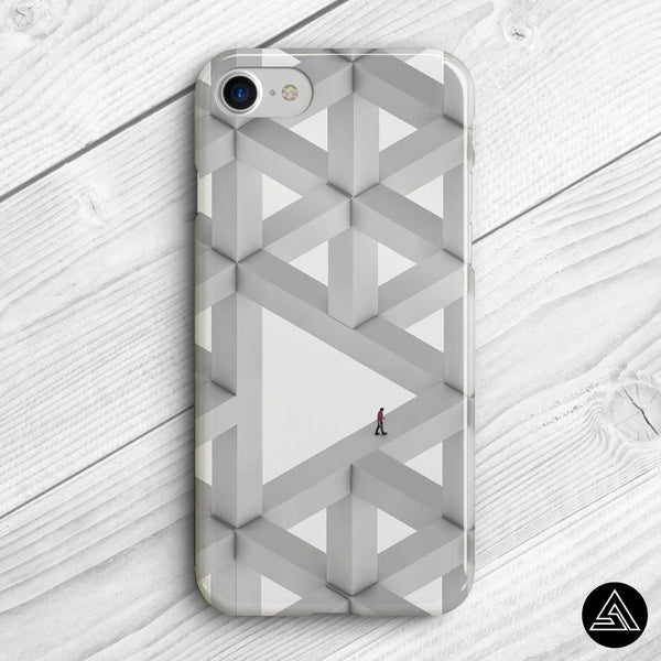 psychedelic labyrinth phone case design