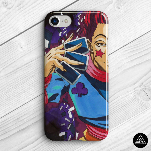 hisoka fan art phone case