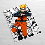 naruto collage poster