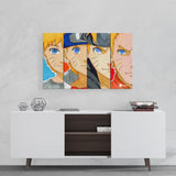 Naruto evolution collage canvas