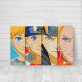 Naruto evolution fan artwork canvas