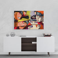 naruto vs pain wall painting