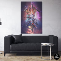 avengers artwork on canvas print