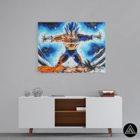 vegeta save goku wall art piece