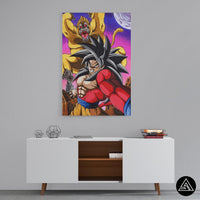 goku and the ape fight artwork