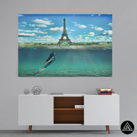 travel artwork paris france