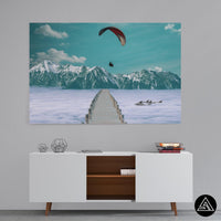 mountains fantasy wall art decor