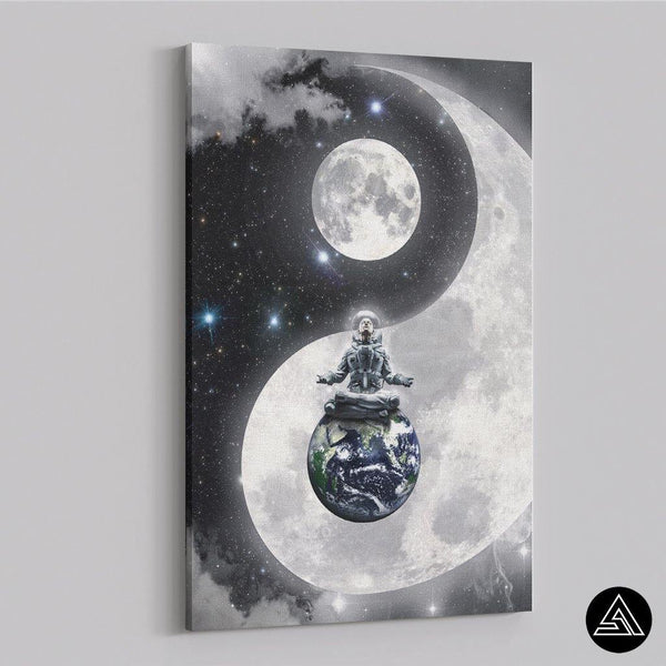 Yin & Yang in Space - Canvas - Sidekick ART
