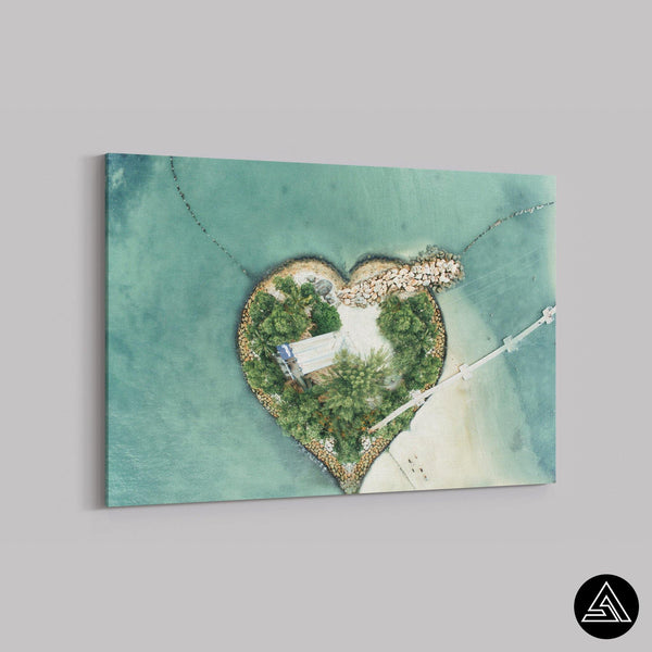 island of love canvas art