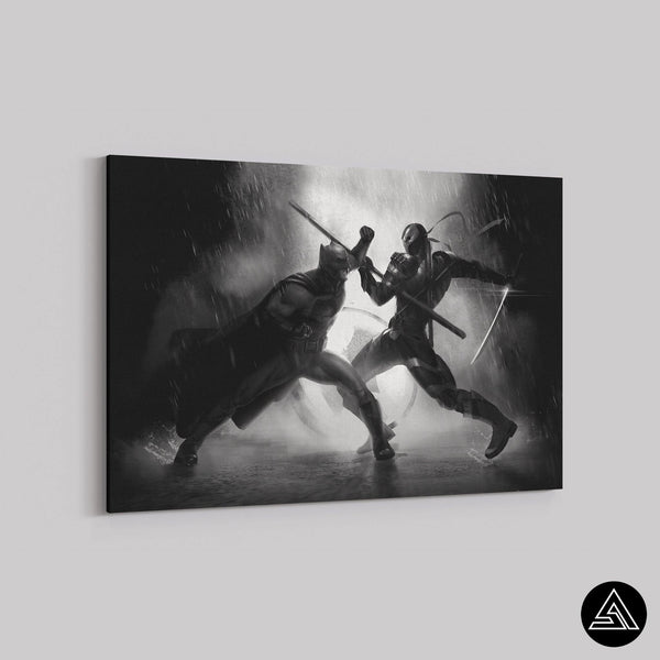 batman vs deathstroke canvas