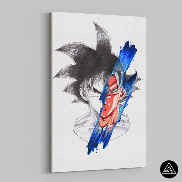goku new style fan art wall art