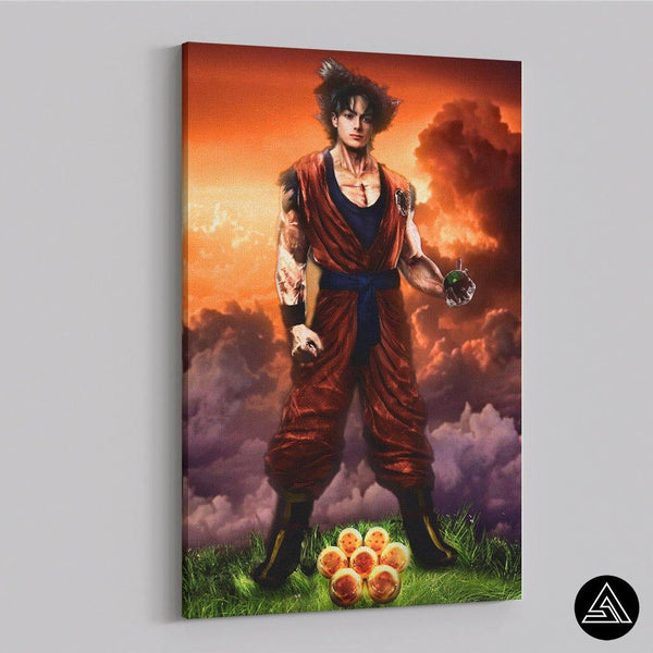 Son Goku 7 Dragon Balls - Canvas
