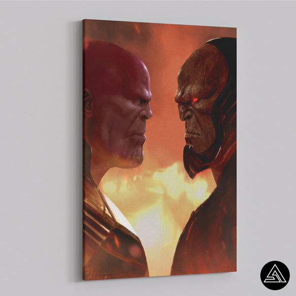 thanos vs darkseid fan art canvas
