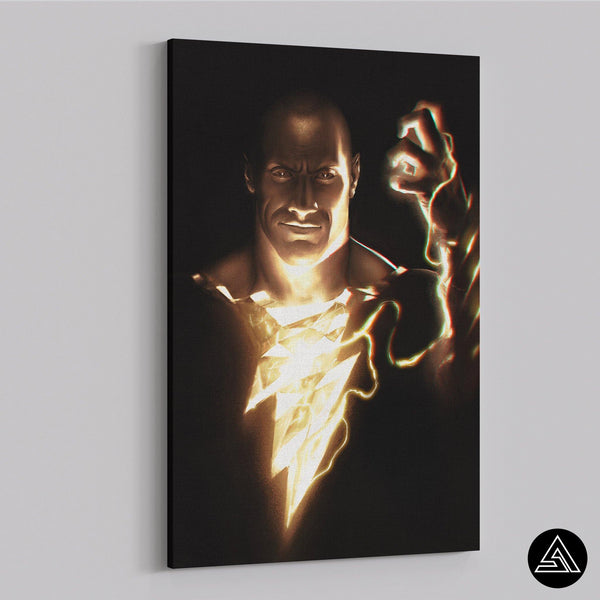 black adam wall art comics