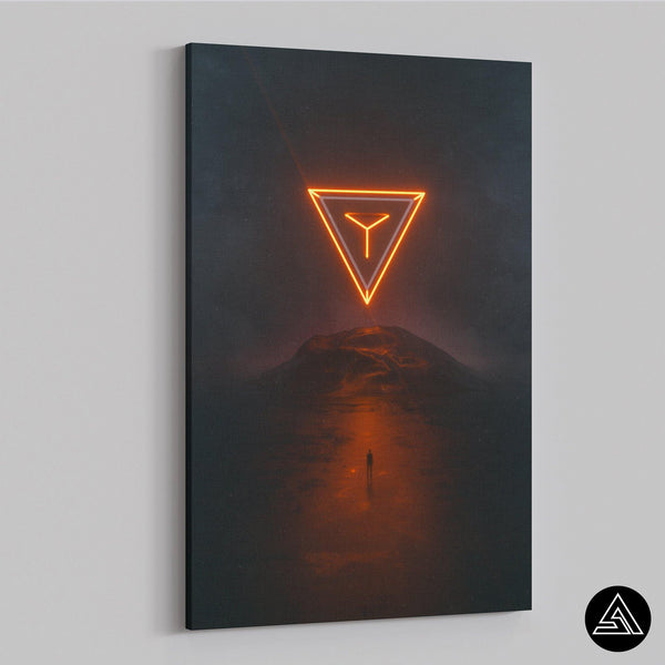 Space Pyramid - Canvas