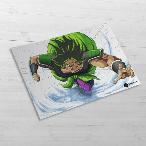 Broly attack - Huge Poster