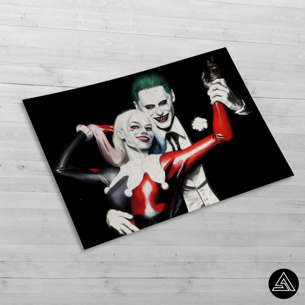 harley quin and joker wall poster