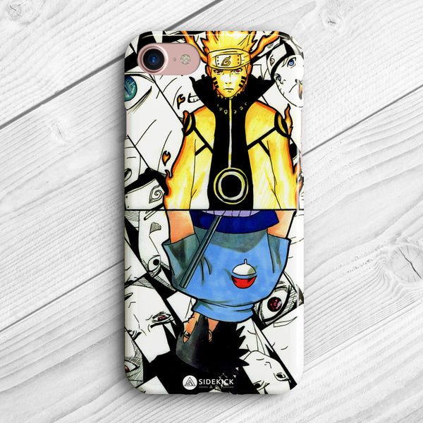 naruto vs sasuke phone case