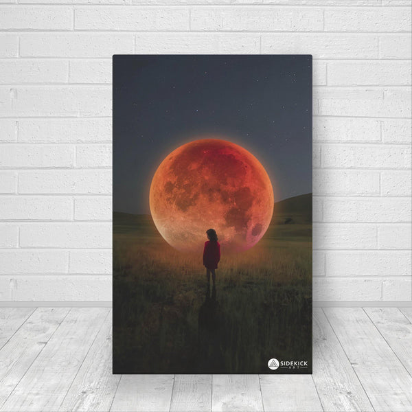 red moon canvas