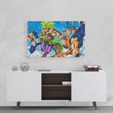 vegeta broly goku canvas