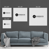 sidekickart canvas sizes