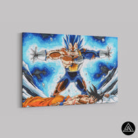 vegeta saves goku artwork on canvas