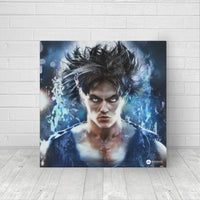 realistic goku wall art decor
