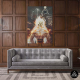 goku and vegeta canvas print