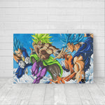dbz fan art on canvas