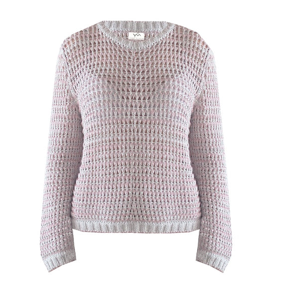 Lace jumper made in the UK in 100% cotton