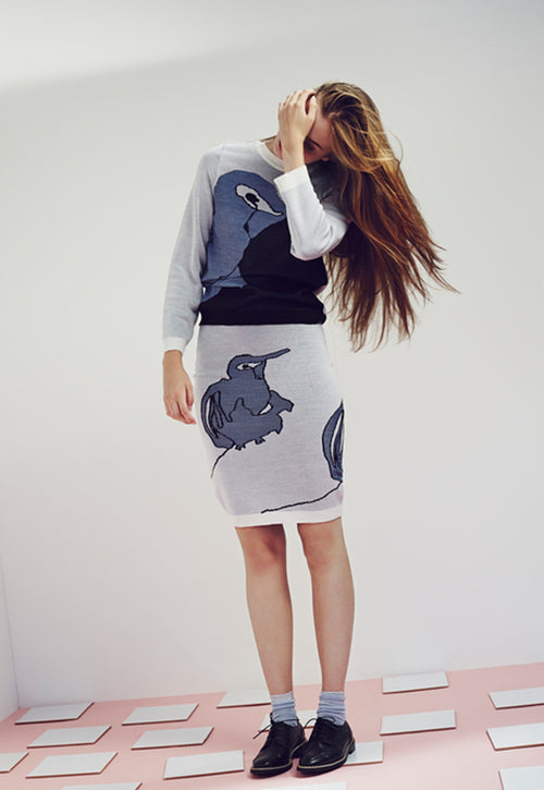 Silk Jumper & Skirt