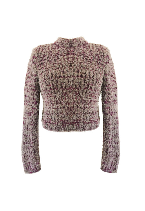 Boucle Knit Cropped Jumper