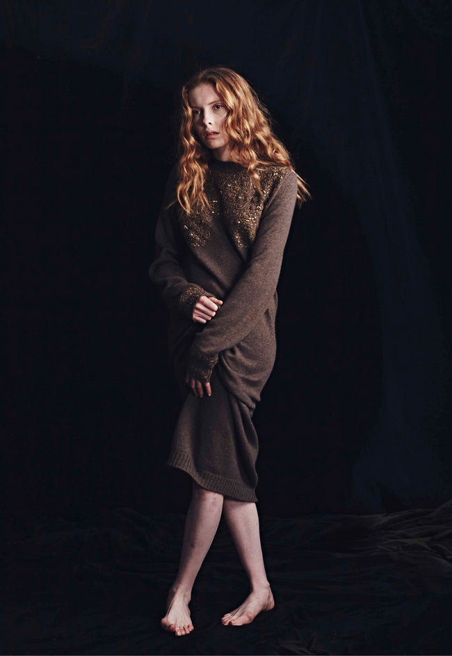 Patty Embroidered Sweater Dress