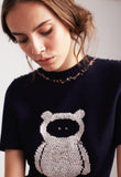 Embroidered Bear Dress