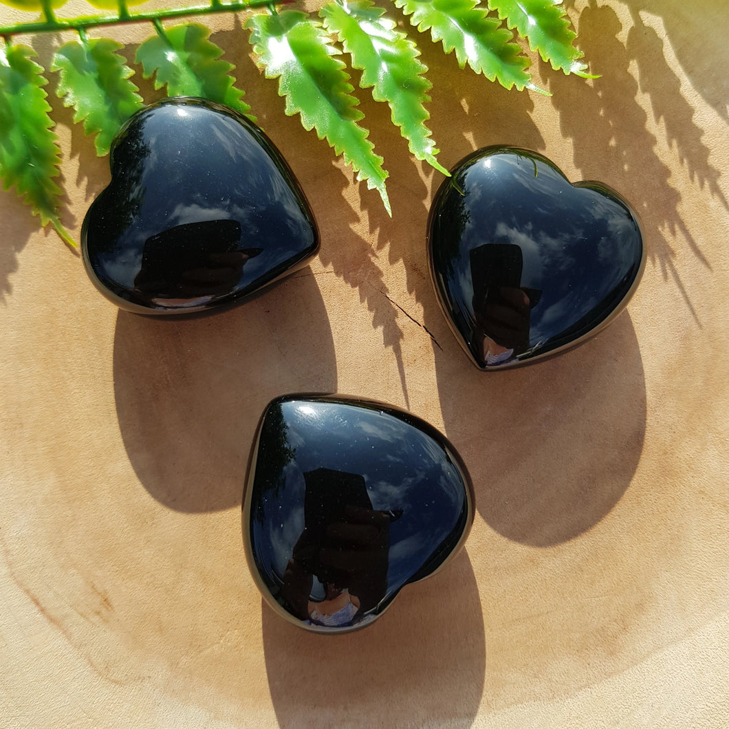 Black Obsidian Hearts